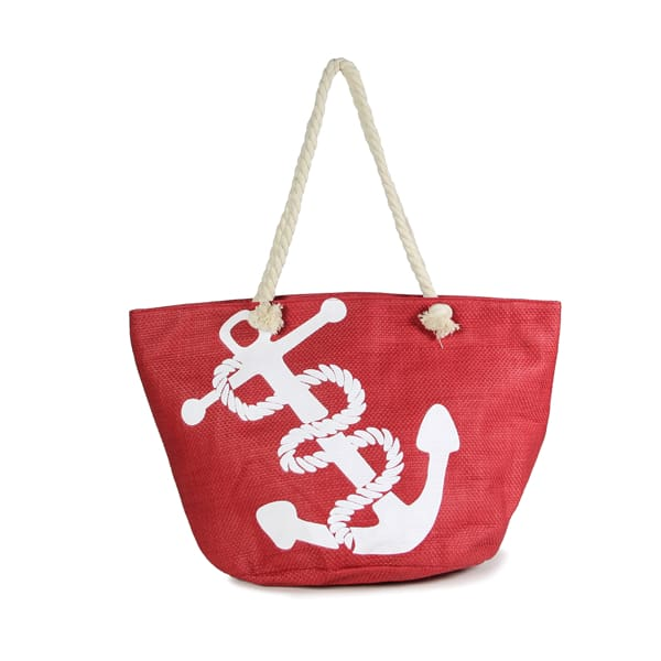 Anchor Straw Rope Tote - Hand Bag