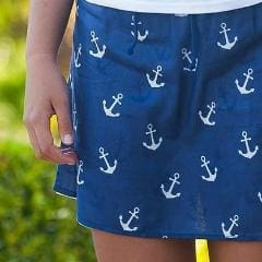 Anchors Ahoy Cotton Fully Lined Skirt - Xs / Navy - Apparel