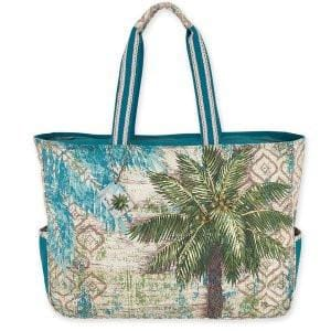 Aqua Escape Oversized Tote - Hand Bag