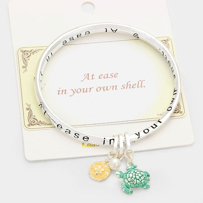 At Ease In Your Own Shell Message Bracelet - Default - Jewelry