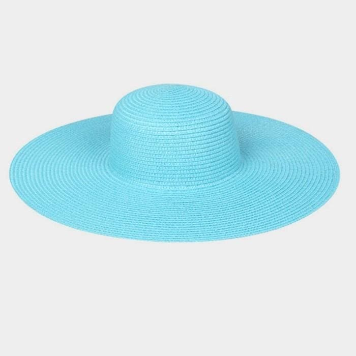 Basic Paper Straw Floppy Sun Hat - Hats