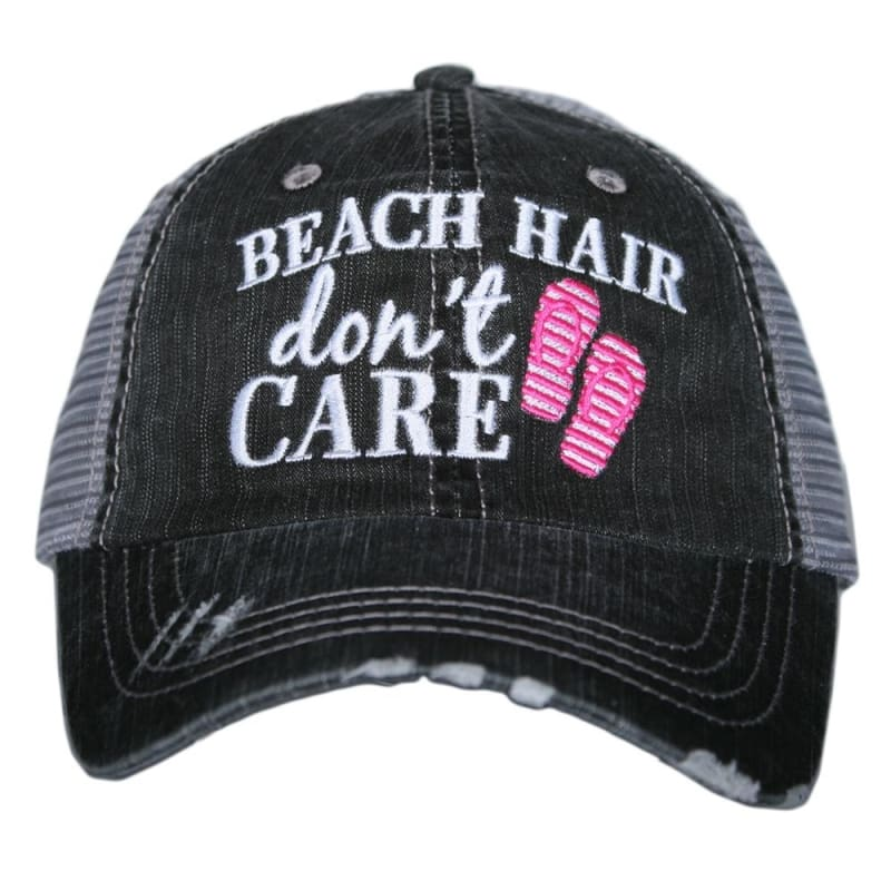 Beach Hair Dont Care Flip Flop Hat - Hot Pink - Hats