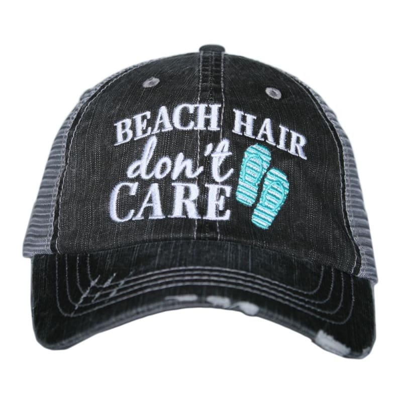 Beach Hair Dont Care Flip Flop Hat - Teal - Hats