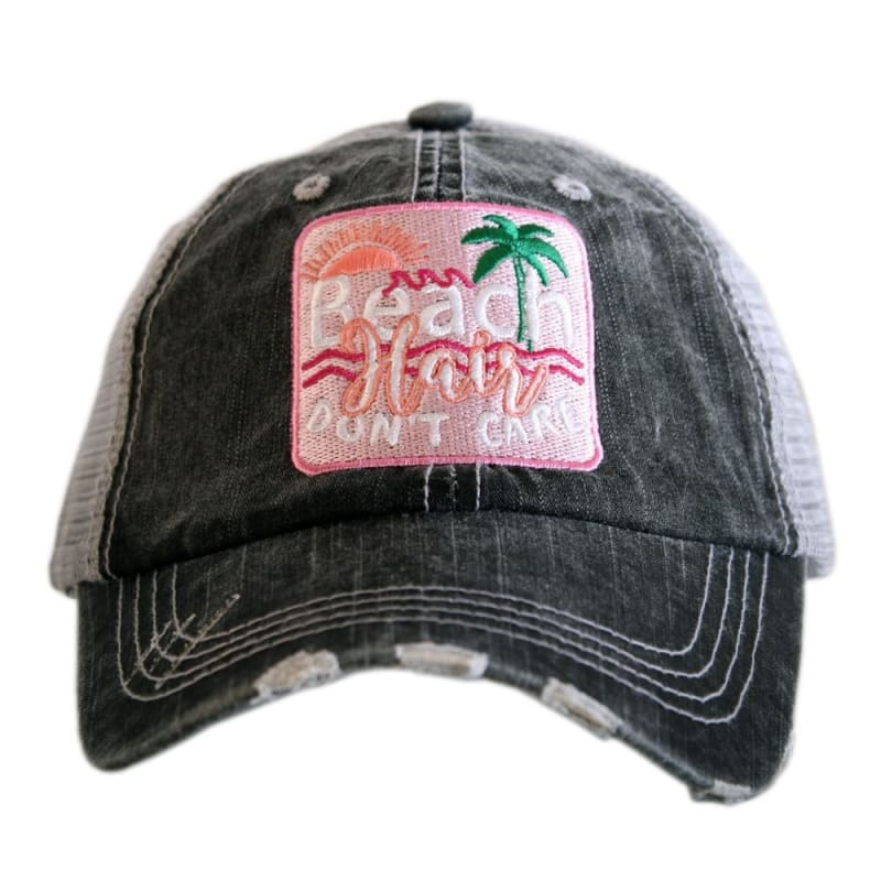 Beach Hair Dont Care Patch Hat - Hot Pink - Hats