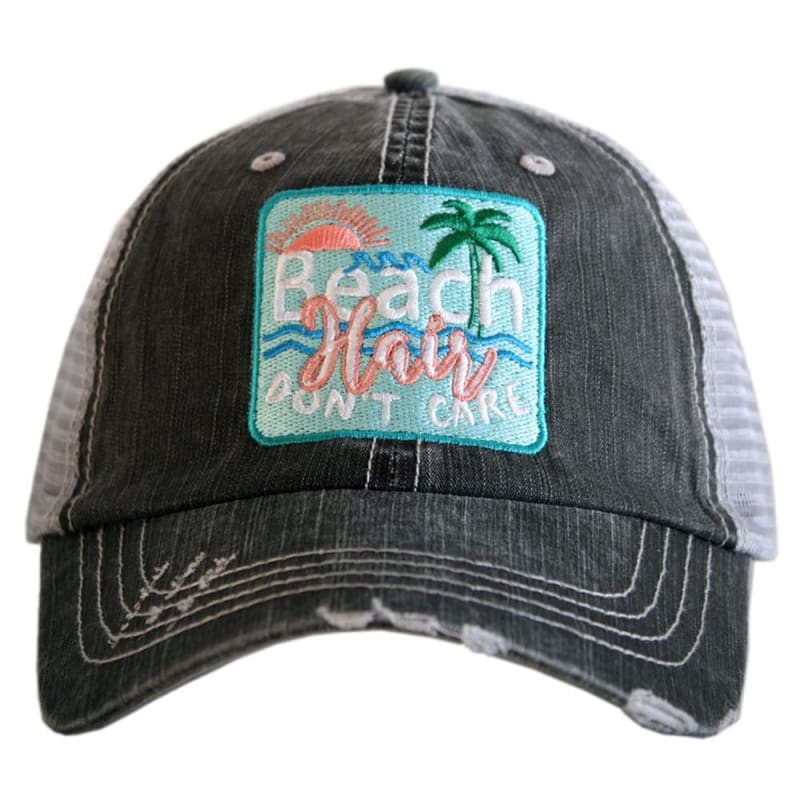 Beach Hair Dont Care Patch Hat - Teal - Hats