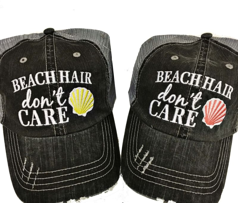 Beach Hair Dont Care Seashell Hat - Coral - Hats