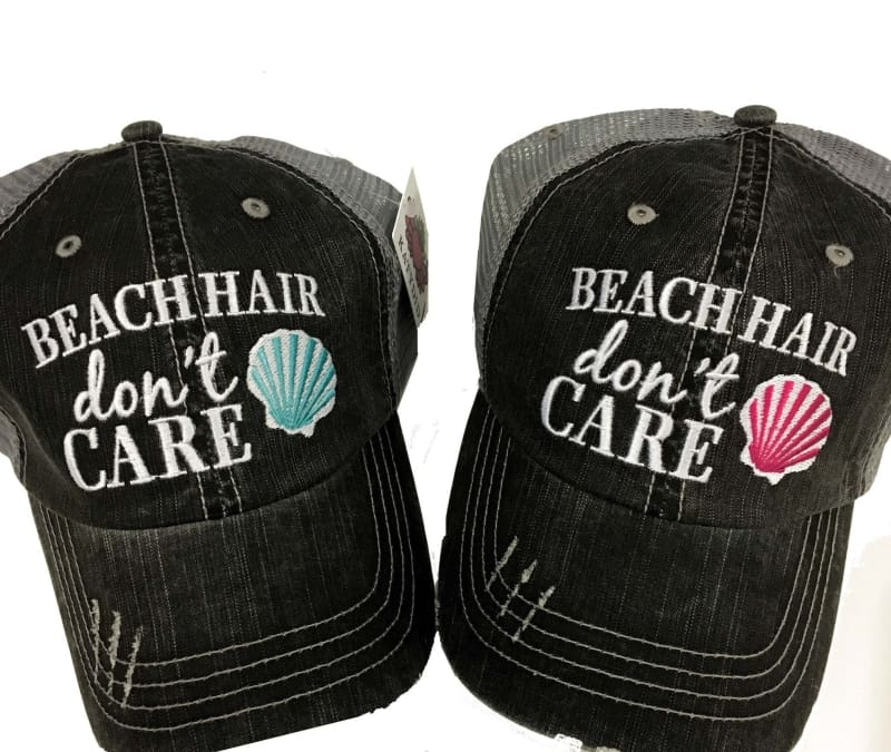 Beach Hair Dont Care Seashell Hat - Teal - Hats