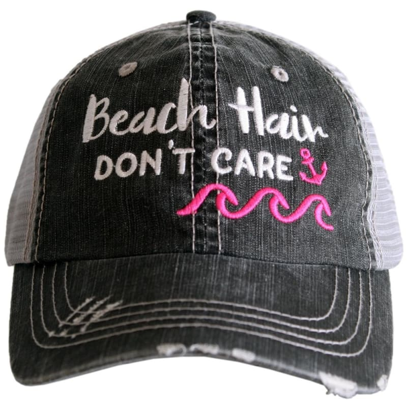 Beach Hair Dont Care Waves Hat - Hot Pink - Hats