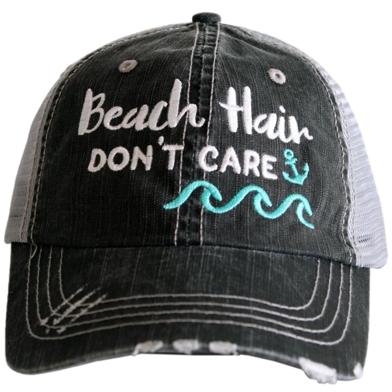 Beach Hair Dont Care Waves Hat - Teal - Hats