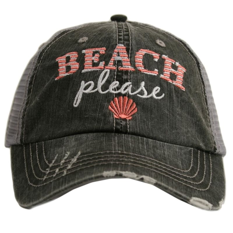 Beach Please Hat - Coral - Hats