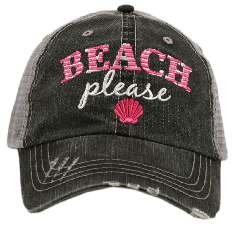 Beach Please Hat - Hot Pink - Hats