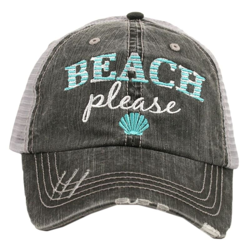 Beach Please Hat - Teal - Hats