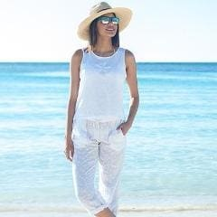 Beach Walk Cotton Pants - Xs / White - Apparel