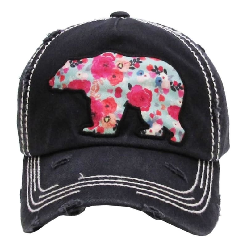 Bear Patch Hat - Pastels - Hats