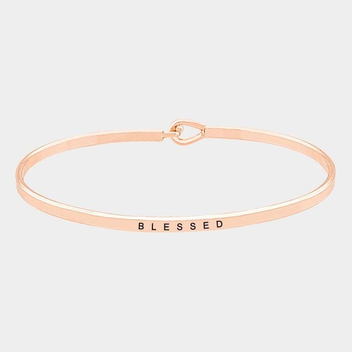 Blessed Thin Metal Hook Bracelet - Jewelry