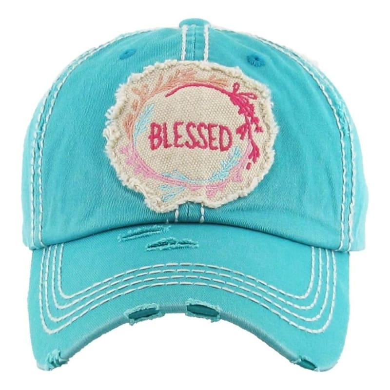 Blessed Womens Patch Hat - Turquoise - Hats