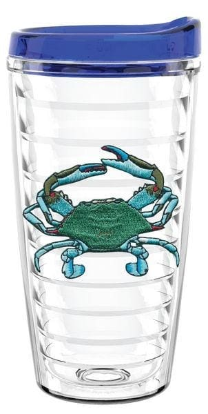 Blue Crab 16Oz Tumbler With Lid - Barware