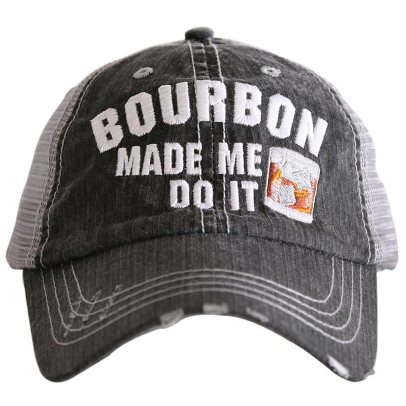 Bourbon Made Me Do It Hat - Default - Hats