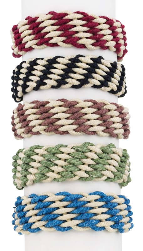 *br Rope Weave-2-Tone - Jewelry