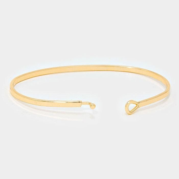 Breathe Thin Metal Hook Bracelet - Jewelry