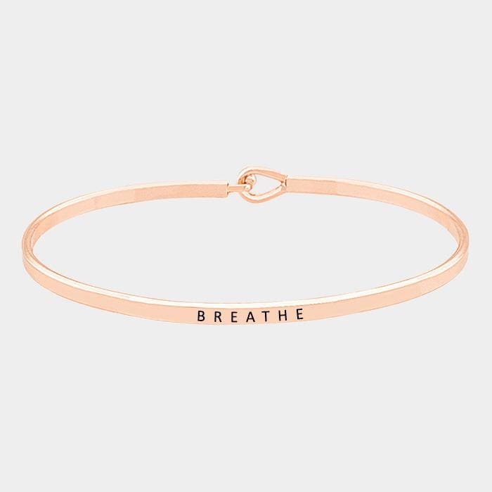 Breathe Thin Metal Hook Bracelet - Rose Gold - Jewelry