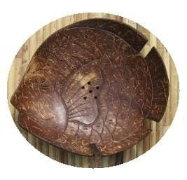 Coconut Soap Dish Fish - Home Decor