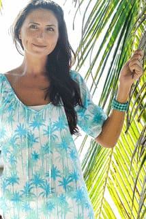 Coconut Tunic - Aqua / S - Apparel
