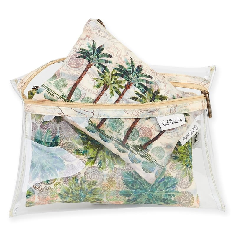 Del Rey Palm 3 Pc Clear Travel Set - Default - Hand Bags