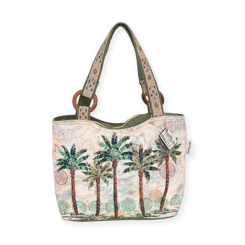 Del Rey Palm Medium Scoop Tote - Default - Hand Bags