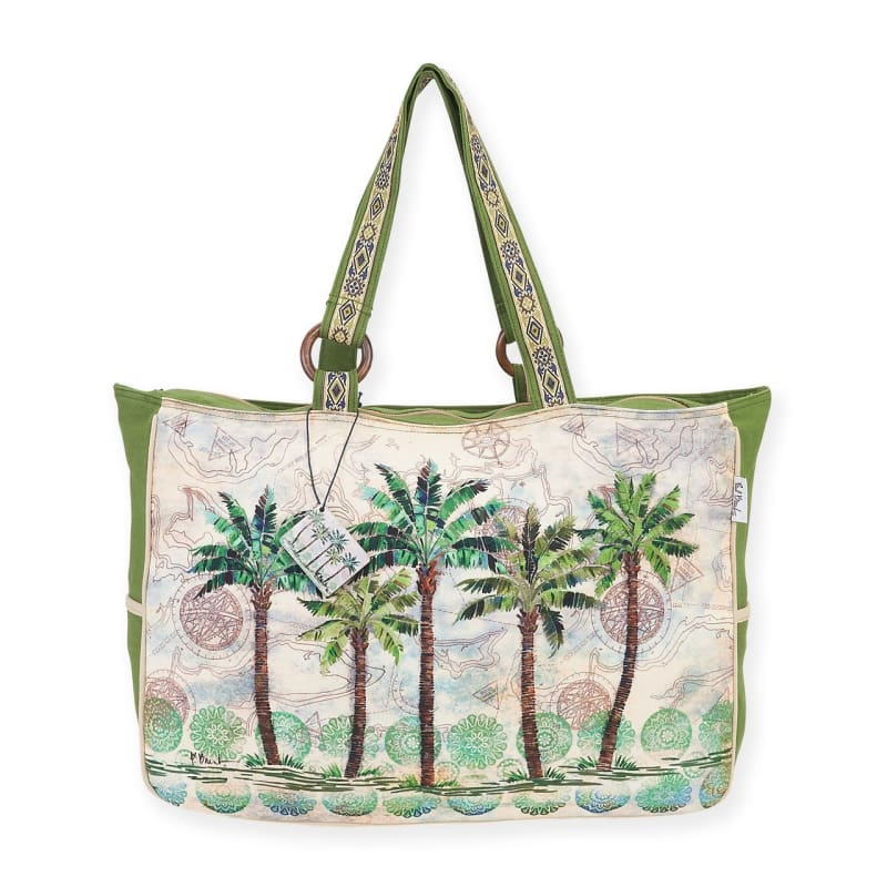 Del Rey Palm Oversized Tote - Default - Hand Bags