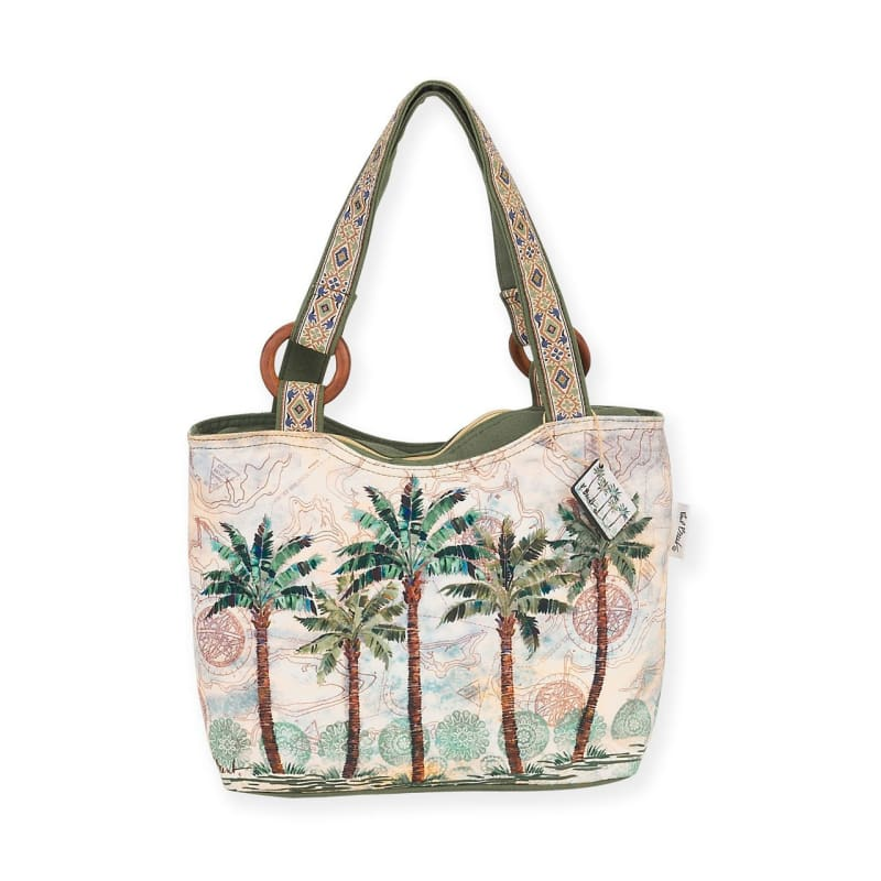 Del Rey Palm Scoop Tote - Default - Hand Bags