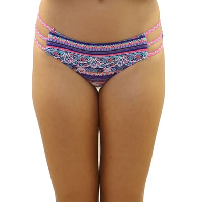 Delilah Three String Braided Bottom - S / Delilah - Swimwear