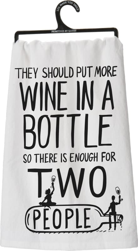 Dish Towel - More Wine - Home Décor