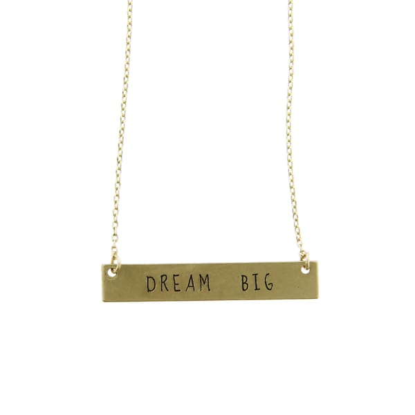 Dream Big Thin Chain Necklace - Gold - Jewelry