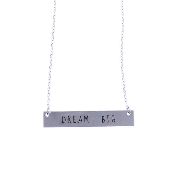 Dream Big Thin Chain Necklace - Silver - Jewelry