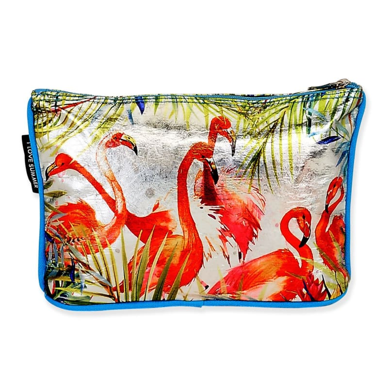 Flamingo Fun Cosmetic Bag - Default - Hand Bags