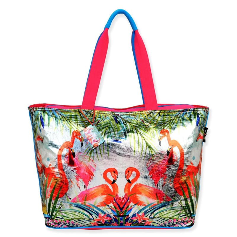Flamingo Fun Shoulder Tote - Default - Hand Bags