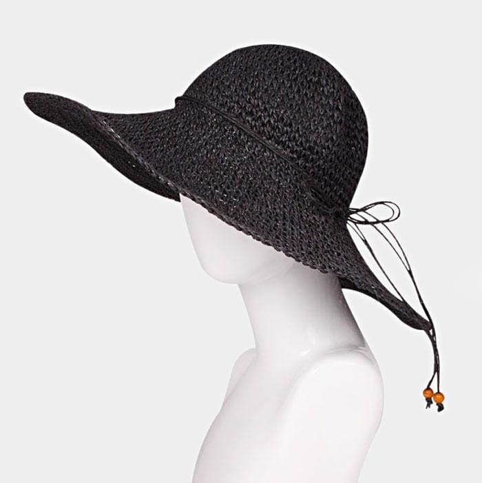 Flexible Sun Hat W/faux Suede Ribbon - Hats