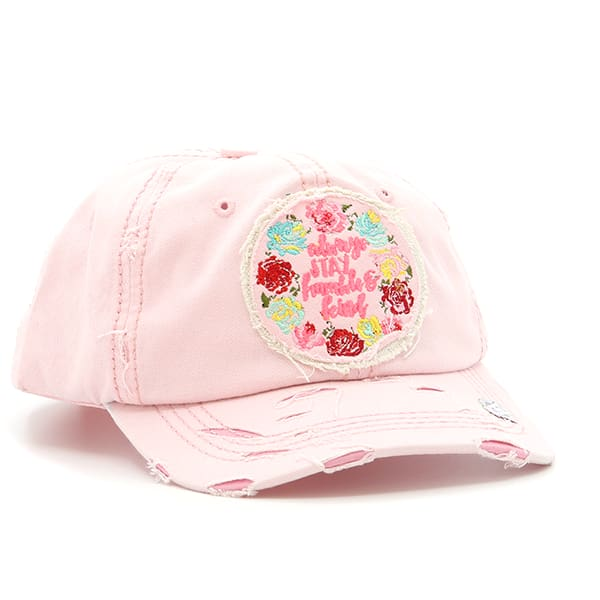 1bbb6760 Barefoot Beach Bums - Floral Always Stay Humble And Kind Hat