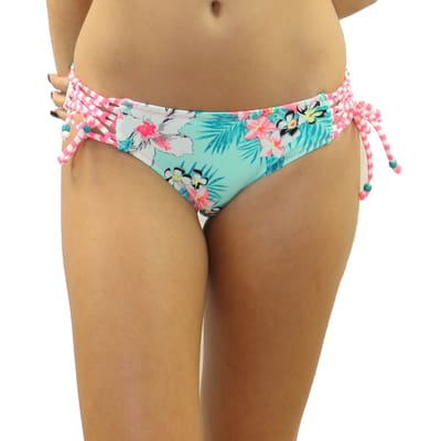 Floral Daze Criss-Cross Tie Side Bottom - S / Floral Daze - Swimwear