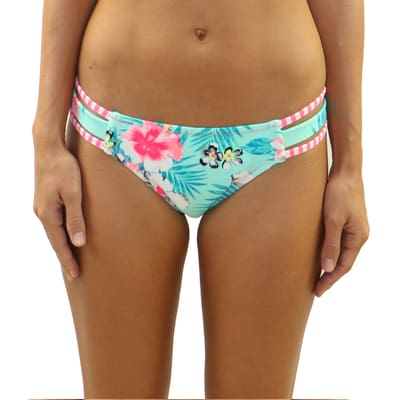 Floral Daze Strappy Side Bottom - S / Default / Floral Daze - Swimwear