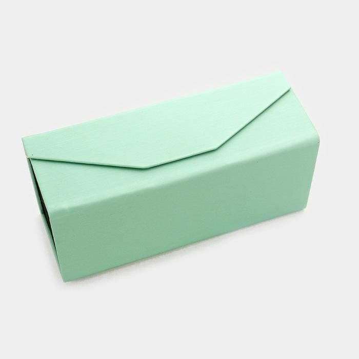 Foldable Solid Eyewear Case - Green - Sunglasses