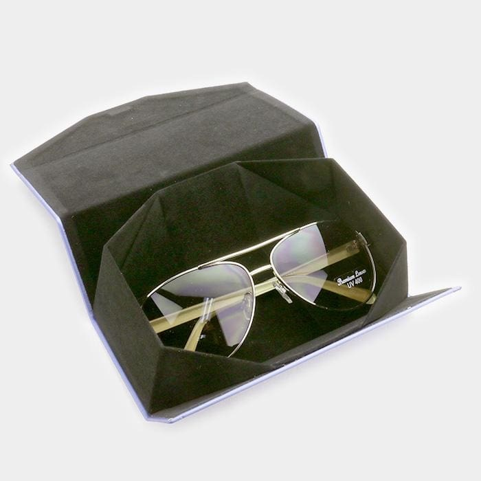 Foldable Solid Eyewear Case - Sunglasses