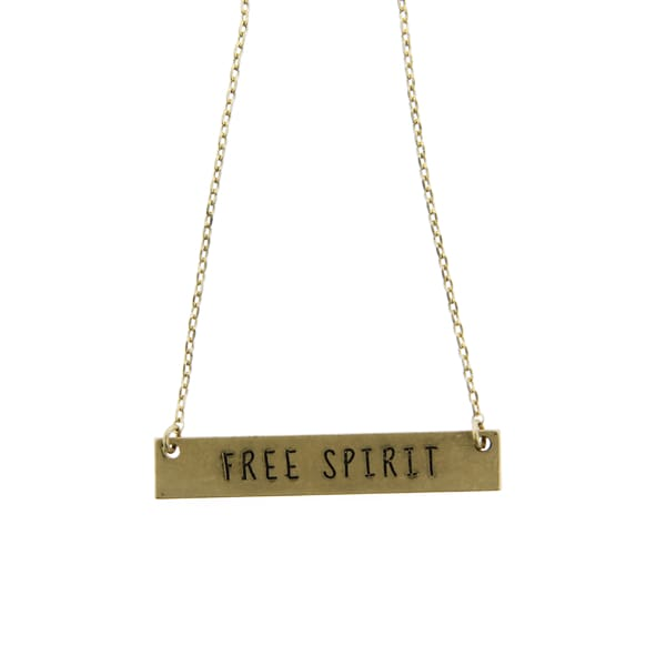 Free Spirit Thin Chain Necklace - Gold - Jewelry