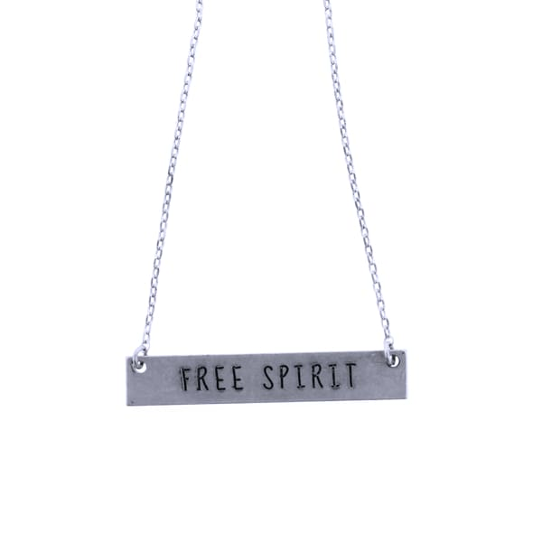 Free Spirit Thin Chain Necklace - Silver - Jewelry