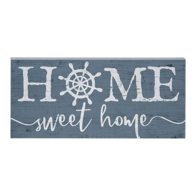 Home Sweet Home Wood Sign - Blue - Wood Signs