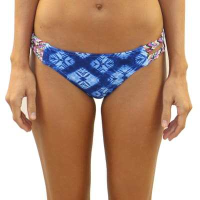 Indigo Waves Criss Cross Side Bottom - M / Indigo Waves - Swimwear