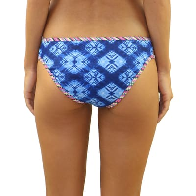 Indigo Waves Side String Bottom - Swimwear