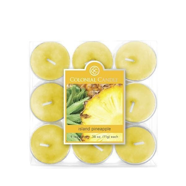 Island Pineapple 9Pk Tealights - Candle