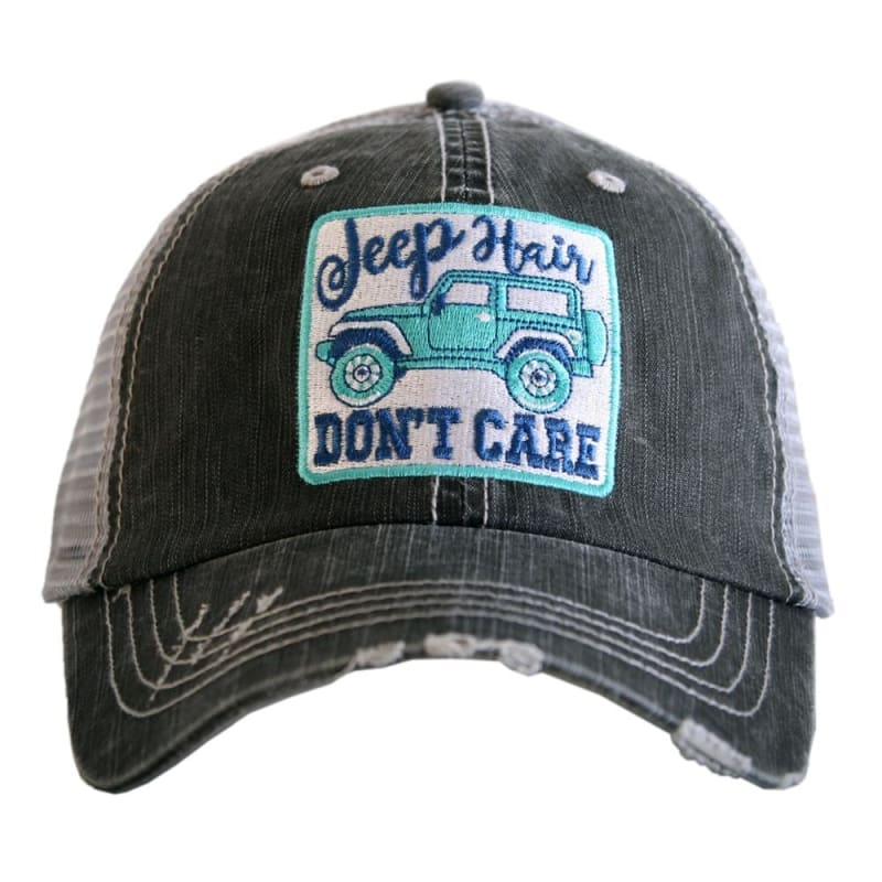 Jeep Hair Dont Care Womens Patch Hat - Teal - Hats
